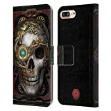 Head Case Designs Officially Licensed Anne Stokes Skull Steampunk Leather Book Wallet Case Cover Compatible With Apple iPhone 7 Plus/iPhone 8 Plus
