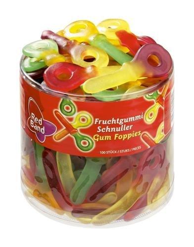 Red Band Fruchtgummi Schnuller 1,2 kg Dose – 6er Pack | Fruchtgummi