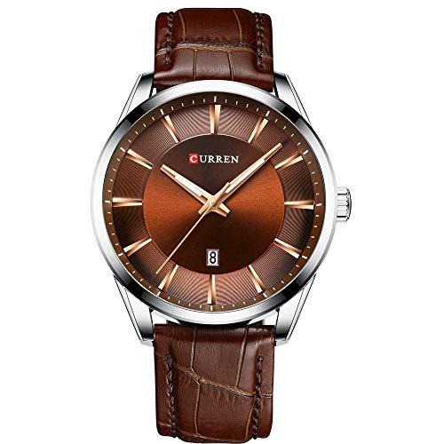 Reloj de Pulsera de Cuarzo Curren 8365 para Hombre con Correa de Cuero, indicador de Calendario, Fecha, Relojes Impermeables para Hombre, Wearab
