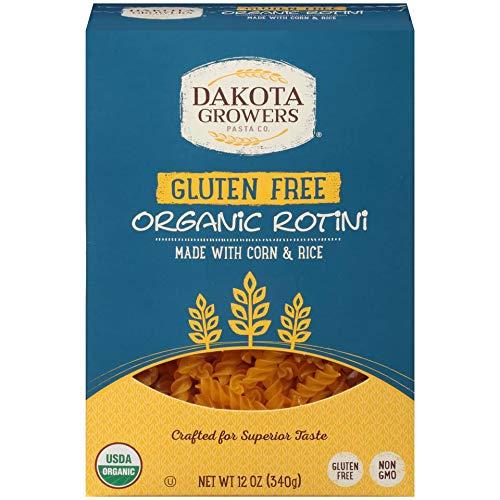 Dakota Growers Organic Gluten Free Rotini Pasta, 12 Ounce -- 12 per case.
