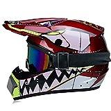 Cascos de motocross, casco deportivo, moto, deportivo, bicicleta de montaña, incluye máscara y guantes