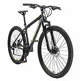 BIKESTAR Bicicleta de montaña Hardtail, 21 Marchas Shimano 29' Pulgadas | Mountainbike con Frenos de Disco Cuadro 19' MTB Negro