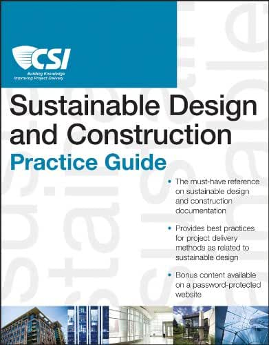 The CSI Sustainable Design and Construction Practice Guide