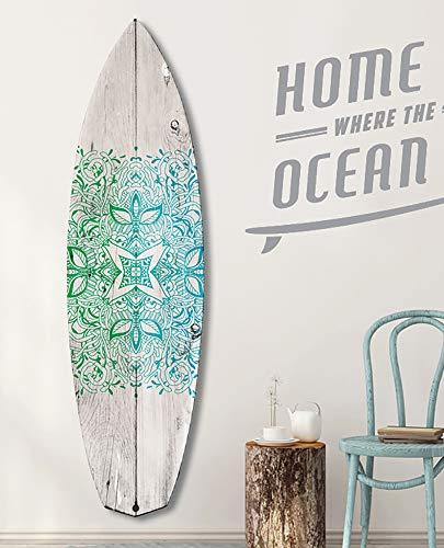 HXA Deco – Tabla de surf decorativa, varias opciones, decoración de pared, impresión en aluminio Dibond, surf Point, 150 x 40 cm