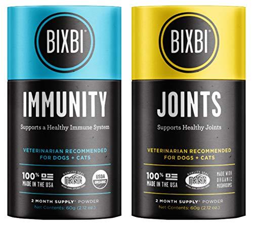 BIXBI Organic Pet Superfood Joints Daily Dog and Cat Supplement, 2.12-Ounce Jar Organic Pet Superfood Immunity Daily Dog and Cat Supplement, 2.12-Ounce Jar