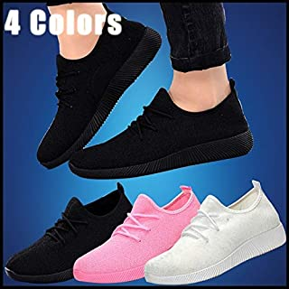 New Spring and Summer Breathable Shallow Mouth Multicolor Student Womens Shoes(Pink,4)