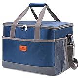 VANWALK Bolsa isotérmica para picnic, bolsa de almuerzo, bolsa térmica de tela Oxford, impermeable, para camping, playa, viajes, niños, trabajo (36 L)