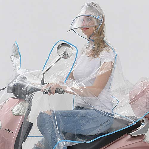 Modieuze Full-Transparant Double-rand hoed, volwassenen de grootte van elektrische auto's, motorfietsen, regenjassen en Ponchos,C,XXXL