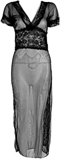 Long Dressing Night Gown Sheer Transparent Tracksuit Evening Dress Solid Sexy Lingerie Women Underwear