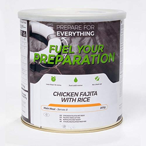 Brandstof uw bereiding bevriezen droge maaltijdblikken (kip Fajita met rijst – 8 porties – tot 25 jaar houdbaarheid)