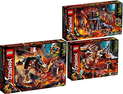 LegoNinjago Lego® NINJAGO® 3er Set 71717 71718 71719 Reise zu den Totenkopfverliesen + WUS gefährlicher Drache + Zanes Mino-Monster