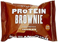 23g of protein per brownie. Sumptuously Chocolatey. Up to 75% less sugar than a standard supermarket brownie. Irresistibly chocolatey and chewy, Contains up to 75% less sugar than the standard supermarket brownie.