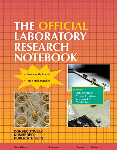 The Official Laboratory Research Notebook (100 duplicate sets)