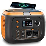 SNUGMAX Portable Power Station Vickers 350, 350W Portable Battery Generator with Pure Sine Wave AC Outlet, Wireless Charging, Portable Solar Generators for Camping, Outdoor Adventure, Home Emergency