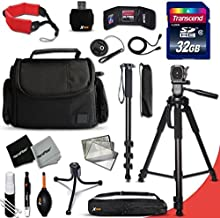 Xtech DSLR Camera Complete ACCESSORIES Kit for Canon EOS 70D 60D 5D 5DS 7D Mark II 5D Mark II EOS Rebel T6i T6S T5i T5 T4i T3i T3 T2i SL1 EOS 760D 750D 700D 650D 600D 550D 8000D 1200D 1100D 100D EOS M3 M2 T1i XTi XT SL1 XSi 7D Mark II DSLR Cameras Includes: 32GB High Speed SD Memory Card + Pro Grade 72' inch Tripod + Full size 72' Inch Monopod + Well Padded Camera Case + Floating Foam Hand-Strap + MORE
