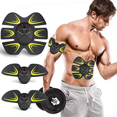 Z&HA Muskel-Toner-EMS AB Toning-Gurt für Body Fitness 6 Modi 10 Stufen für Bauch-Bein-Arm Bauch-Workout Ausrüstung für Männer Frauen tragbare Trainingsgeräte Home Office Wireless-E-ABS Trainer