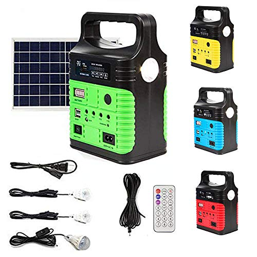 UPEOR Solar Generator Lighting System Portable Solar Power Generator Kit...