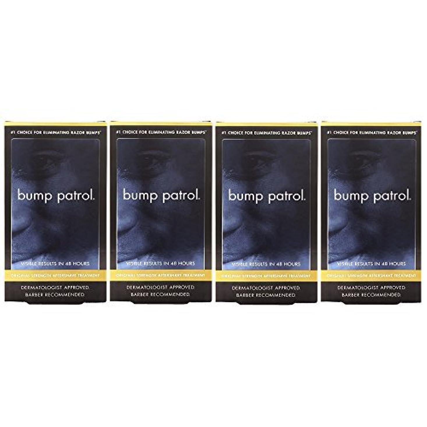 不可能な核凶暴なBump Patrol Dermatologist Approved Original Strength Aftershave Treatment (2 oz) 4 Pack [並行輸入品]