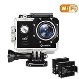 CAMKONG Action Kamera WiFi Sport Action Camera Helmkamera Action Cam Unterwasserkamera Wasserdicht...