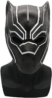 Black Panther Mask, Latex Superhero Cosplay Costume Halloween Mask Full Head Helmet