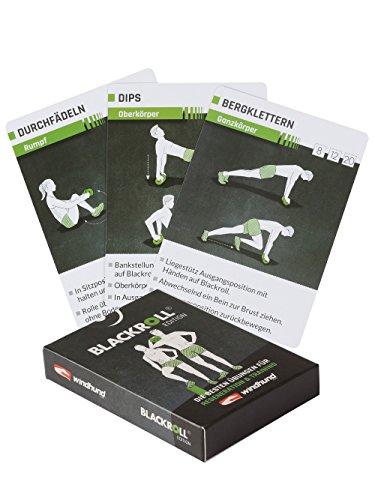 Windhund Trainingskarten Blackroll Edition - Ãœbungen mit der Faszienrolle