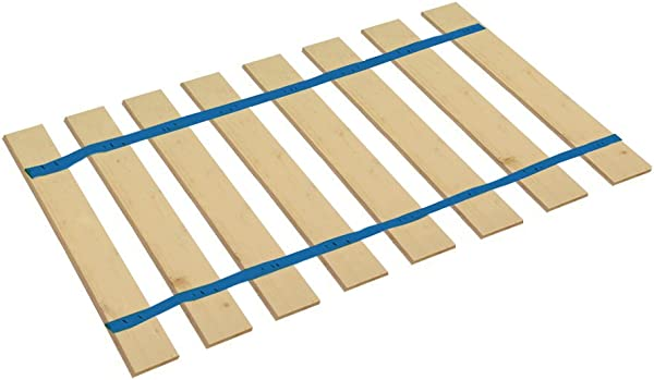 The Furniture Cove Full Size Bed Slats Boards Wood Foundation With Blue Strapping Help Support Your Box Spring And Mattress Made In The U S A 52 50 Wide