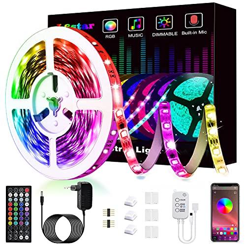 Ruban Led, L8star Led Ruban 5m Intelligent Bande Lumineuse Led 5050 RGB SMD Multicolore Bande LED Lumineuse avec Télécommande changement