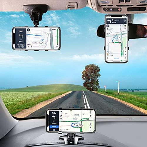 Soporte de coche para teléfono móvil, navegador GPS, soporte ajustable, apto para una variedad de modelos (negro)