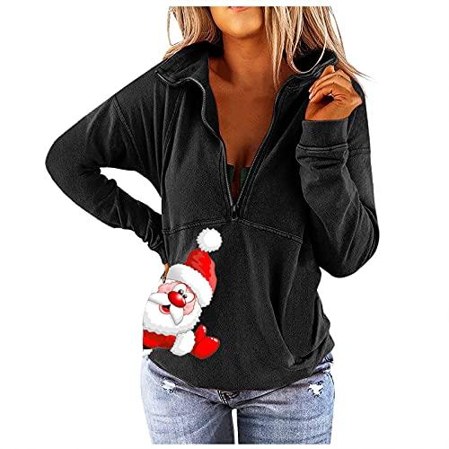HHOP Weihnachten Damen Bekleidung sexy Damen Langarm elegant Streifen Bluse 5 Euro Artikel ohne versandkosten Damen Oberteile Herbst ausgefallene Oberteile Damen Sweatshirt Damen gelb musselin Bluse