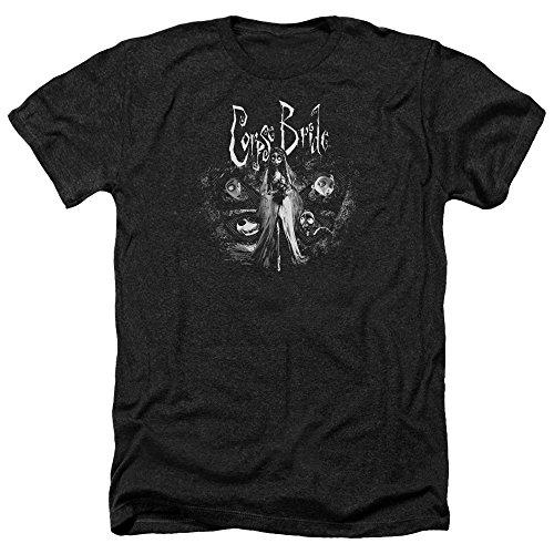 Corpse Bride Tim Burton Bride To Be Adult T-Shirt Heather Black XL