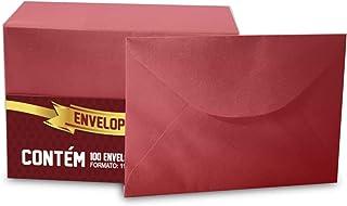 Envelope Visita Romitec, Vermelha, pacote de 100
