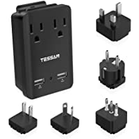 TESSAN 2000W International Travel Power Plug Adapter with 2 USB Ports