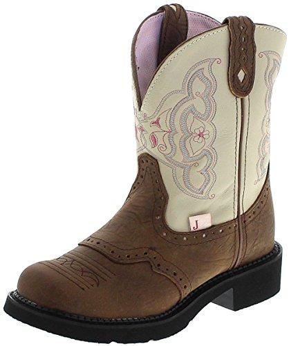 Justin Boots Damen Cowboy Stiefel L9924 Brown Westernreitstiefel Lederstiefel Braun 36.5 EU