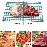 Besline クイック除霜ネット加速除霜ネット解凍パッド肉野菜除霜キッチンツール