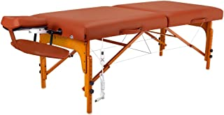 Master Massage Santana Therma Top Memory Foam Portable Massage Table Package, Mountain Red, 31 Inch
