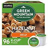 Green Mountain Coffee Roasters Hazelnut Decaf, Single-Serve Keurig K-Cup Pods, Flavored Light Roast Coffee, 96 Count