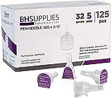 BH Supplies Pen Needles 32 Gauge - 3/16', 5mm (Pack of 125)