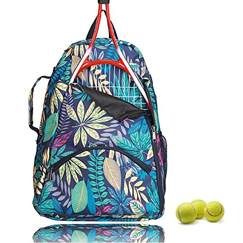 QEES Tennis Bag/Tennis Backpack for Women, 36L Tennis Racket Backpack, Large Capacity Tennis Sports Duffle Bag, Racket Holder Equipment Bag for Tennis, Racquetball, Squash