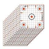 Allen Company EZ Aim 12 inch Square Sight-in Grid Paper Shooting Target, 13-Targets Per Pack, White/Orange - USA Designed & Tested