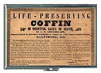1844年life-preserving Coffin IDウォレットorシガレットケースアメリカ製