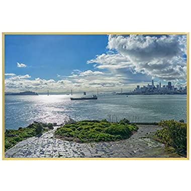 Frametory, 18x24 Picture Frame, Aluminum Gold Photo Frame Collection with Real Glass at Front