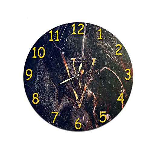 LUOYLYM Sala De Estar Reloj Decorativo Reloj De Pared Digital Reloj De Acrílico Mudo Reloj Estéreo Creativo Etiqueta De La Pared Cara del Reloj D-341 (Luminous Hands) 28cm