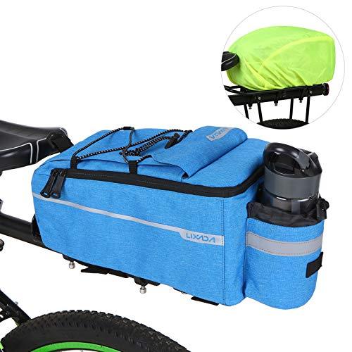 Bolsa Aislante para Maletero con Cubierta para la Lluvia Impermeable Ciclismo Bicicleta Portaequipajes Trasero Bolsa de Equipaje Reflectante MTB Bicicleta Alforja Bolsa de Hombro