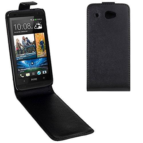 YUCPING Handyhülle Aufrecht Flip Magnetised Snap-Ledertasche for HTC Desire 601 / Zara