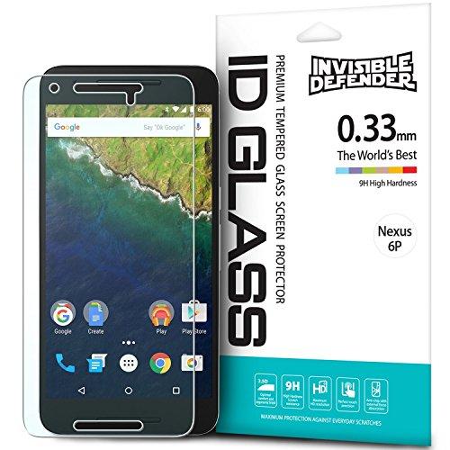 Protector de Pantalla Nexus 6P, Invisible Defender Glass [MAX HD CLARIDAD] Nexus 6P vidrio protector de Pantalla Garantía de por vida Perfect Touch de precisión de alta definición (HD) Claridad película el para Huawei Nexus 6P