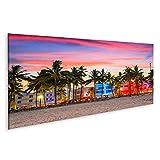 Bild Bilder auf Leinwand Miami Florida Usa Stadtbild am