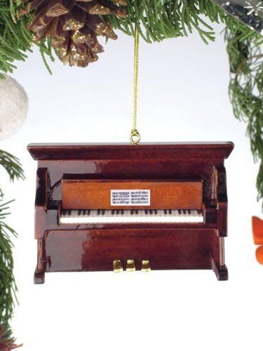 Broadway Gifts Brown Upright Piano Tree Ornament (1)
