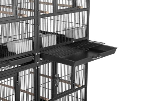 Prevue Pet Products F070 Hampton Deluxe Divided Breeder Cage System with Stand