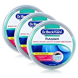 Dr. Beckmann Putzstein, Universalreiniger für den ganzen Haushalt mit Aktivkohle, inkl. 2-Phasen-Putzschwamm, (3x 400 g)