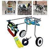 Silla de ruedas para perros Patas traseras ajustables Soporte de cadera y articulaciones para perros con artritis Displasia de cadera Arnés de elevación para perros Ayudas para caminar para perro